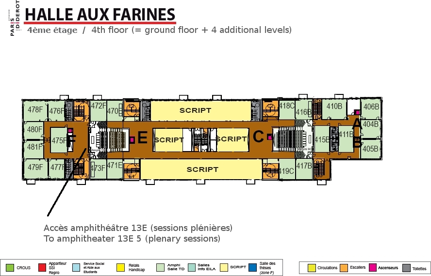 Map 4th floor Halle aux farines